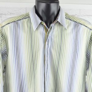 Robert Graham - Multi-colored striped shirt
